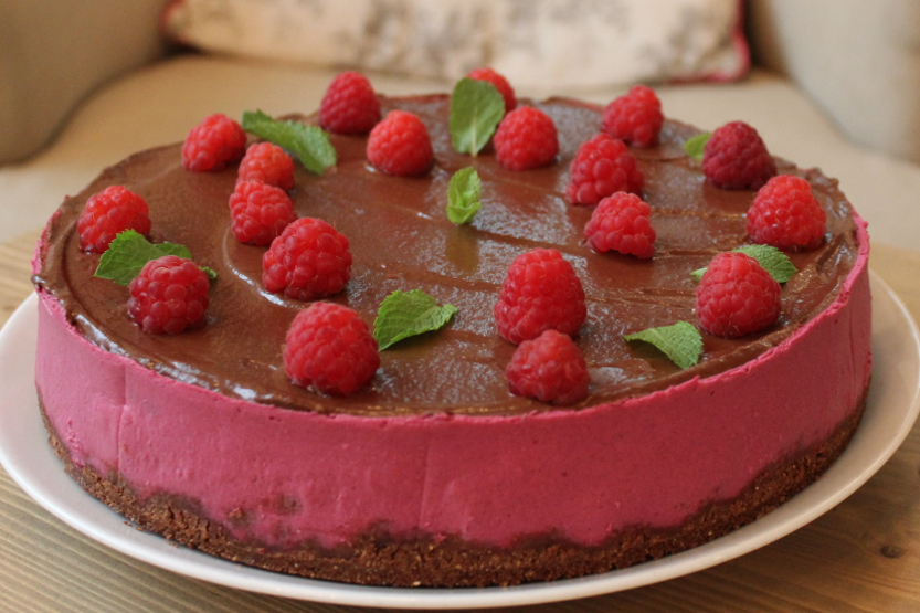 Raspberry with chocolate
